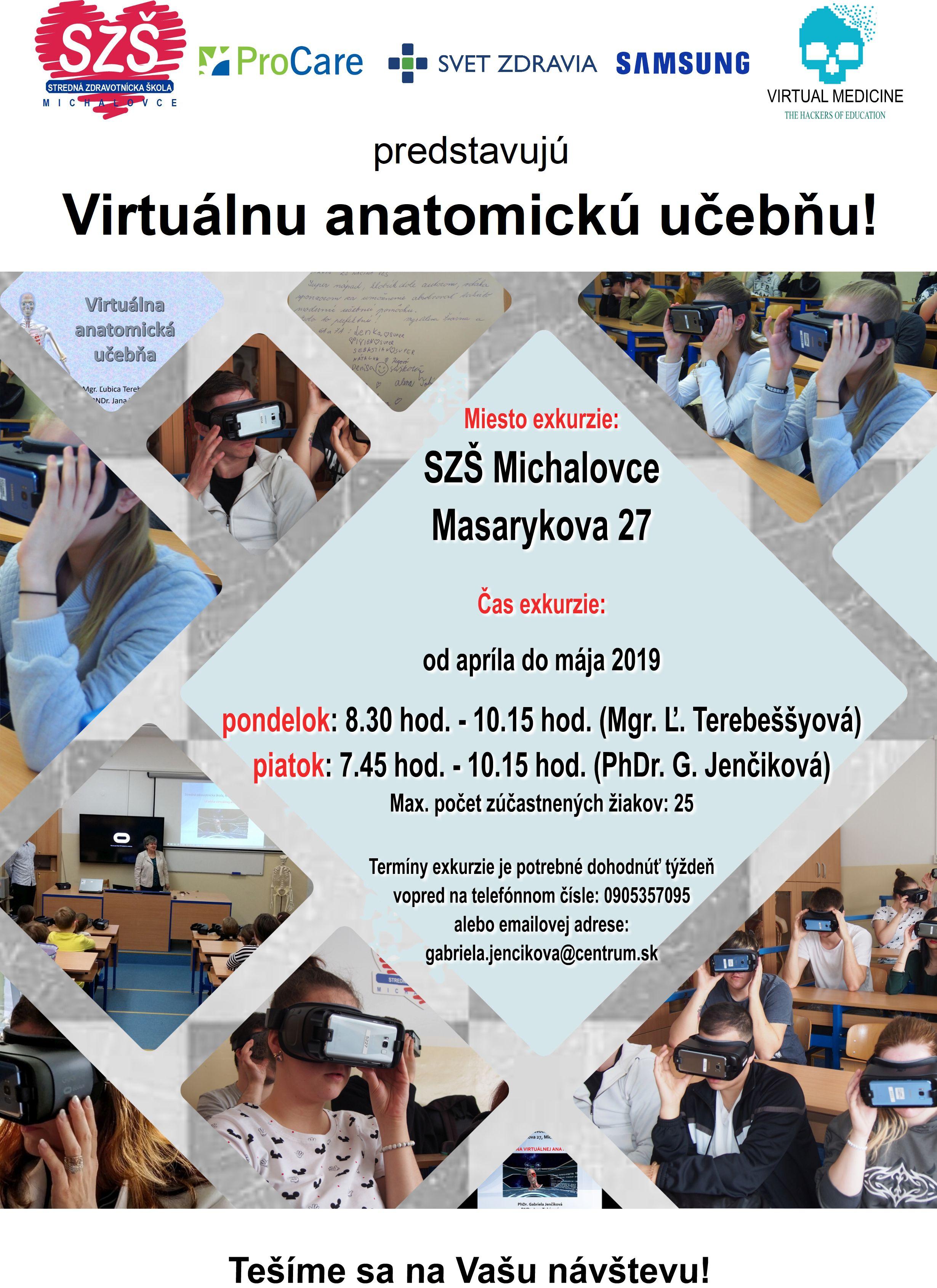 Virtuálna anatomická učebňa - zaži hodinu s virtuálnou realitou