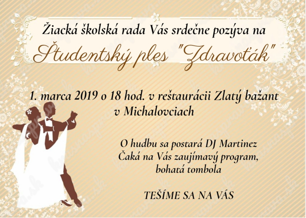 Ples Zdravoťák 2019